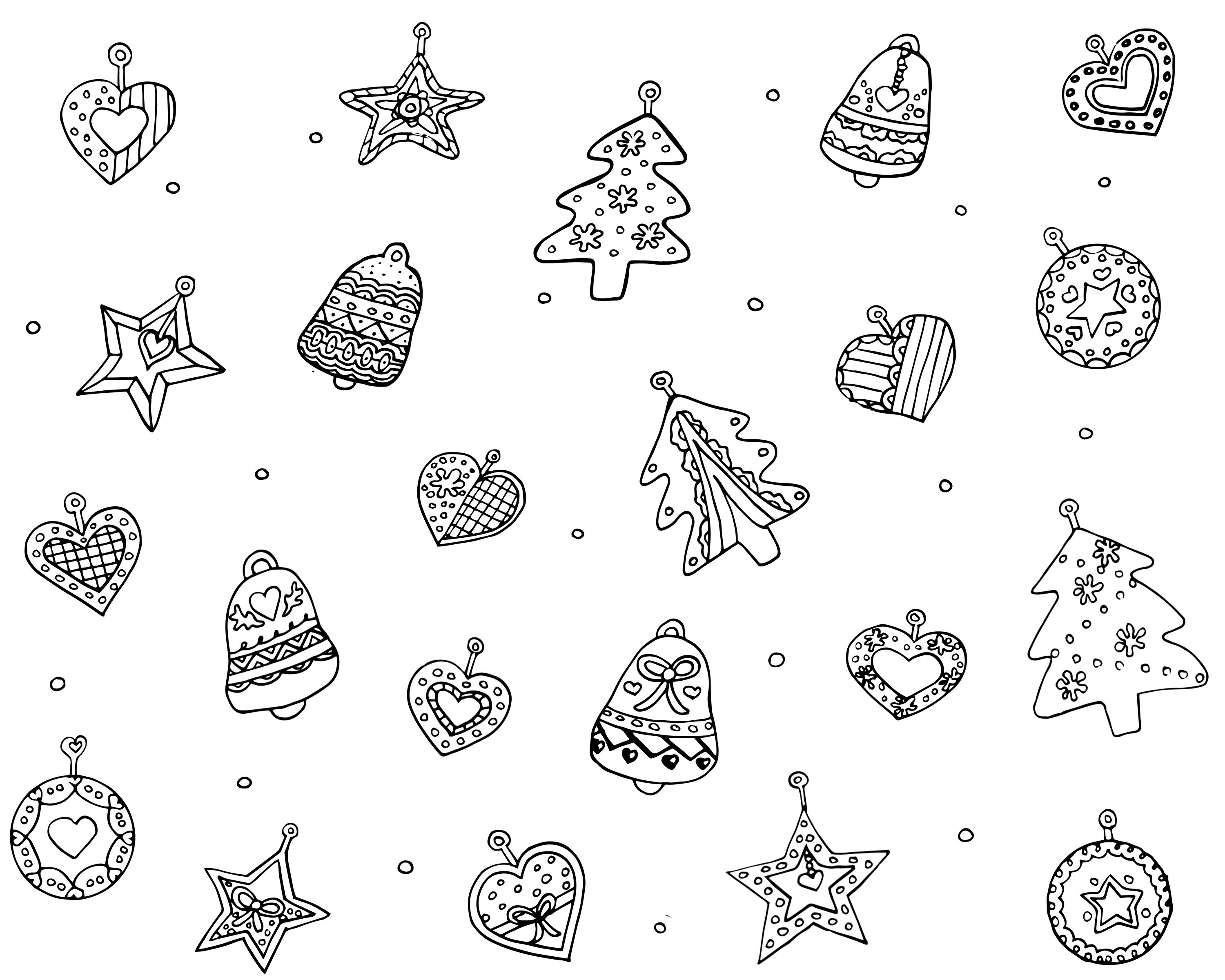 FREE Christmas ornaments adult coloring page. Download, print and ...
