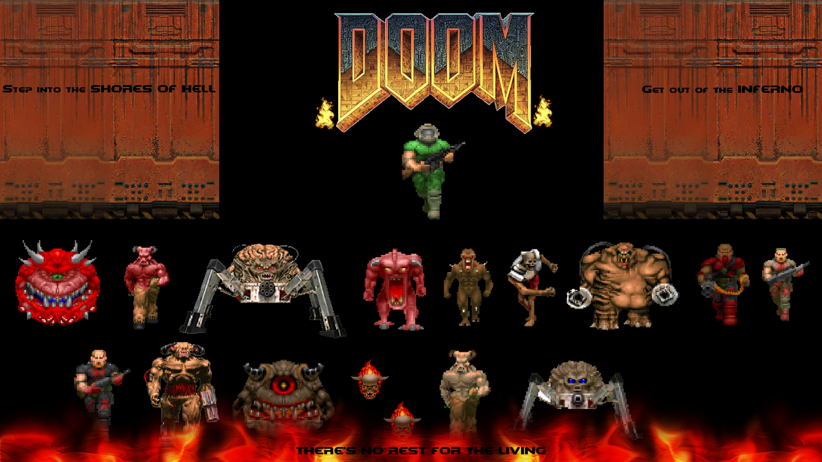 Pin By Mark On Computer Game Art Wallpaper Doom Wallpaper Pictures