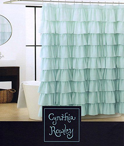 Pretty Ruffly Shower Curtain Blue Shower Curtains Ruffle Shower Curtains Diy Curtains