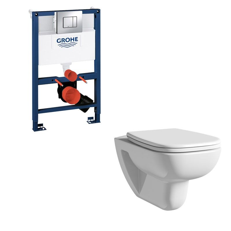 Terrific Duravit D Code Rimless Wall Hung Toilet With Soft Close Seat Machost Co Dining Chair Design Ideas Machostcouk