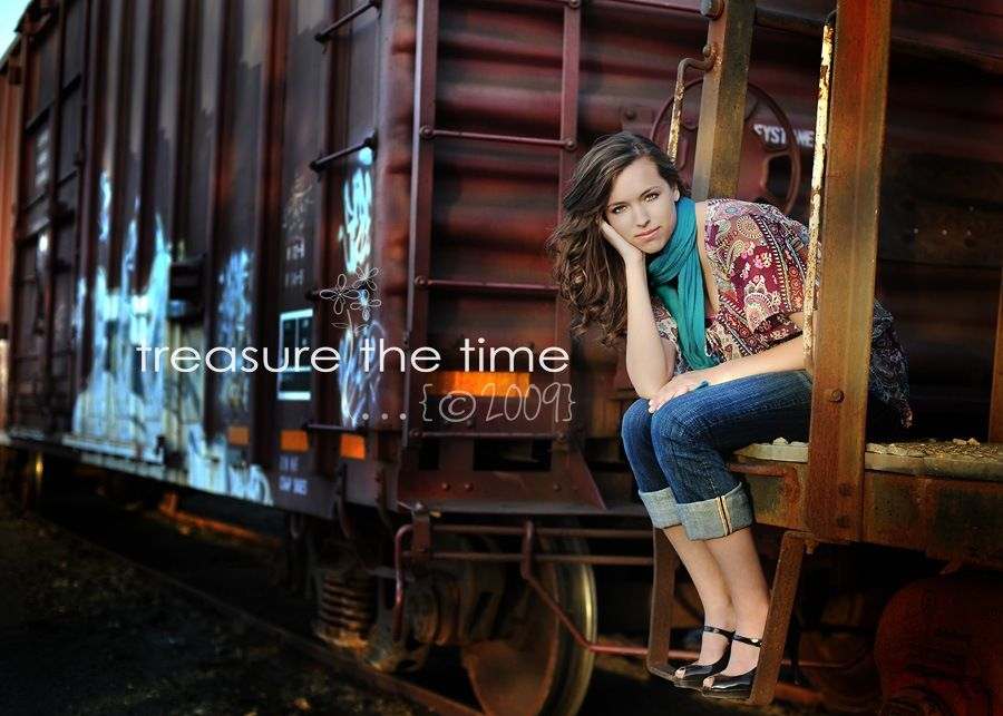 """Use industrial objects as a backdrop to create beautiful textures.  Wearing colorful accessories makes the subject """"pop""""."""