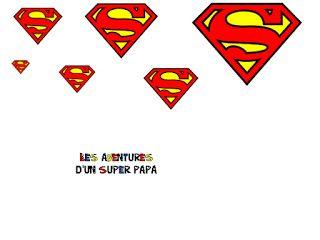 Logo Super Héro Bd Livre Des Aventures Dun Super Papa