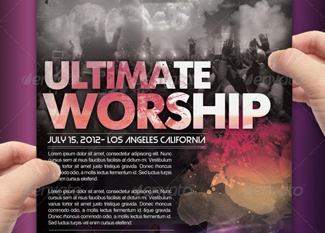 Ultimate Worship Flyer Combo  Inspiks Market  Worship Conference