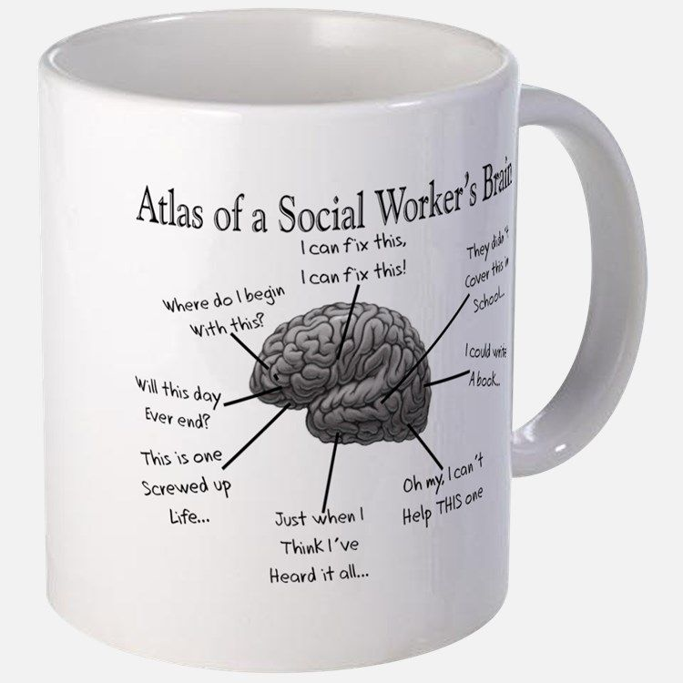Atlas of a Social workers brain Mugs for   Gift ideas   Pinterest ...