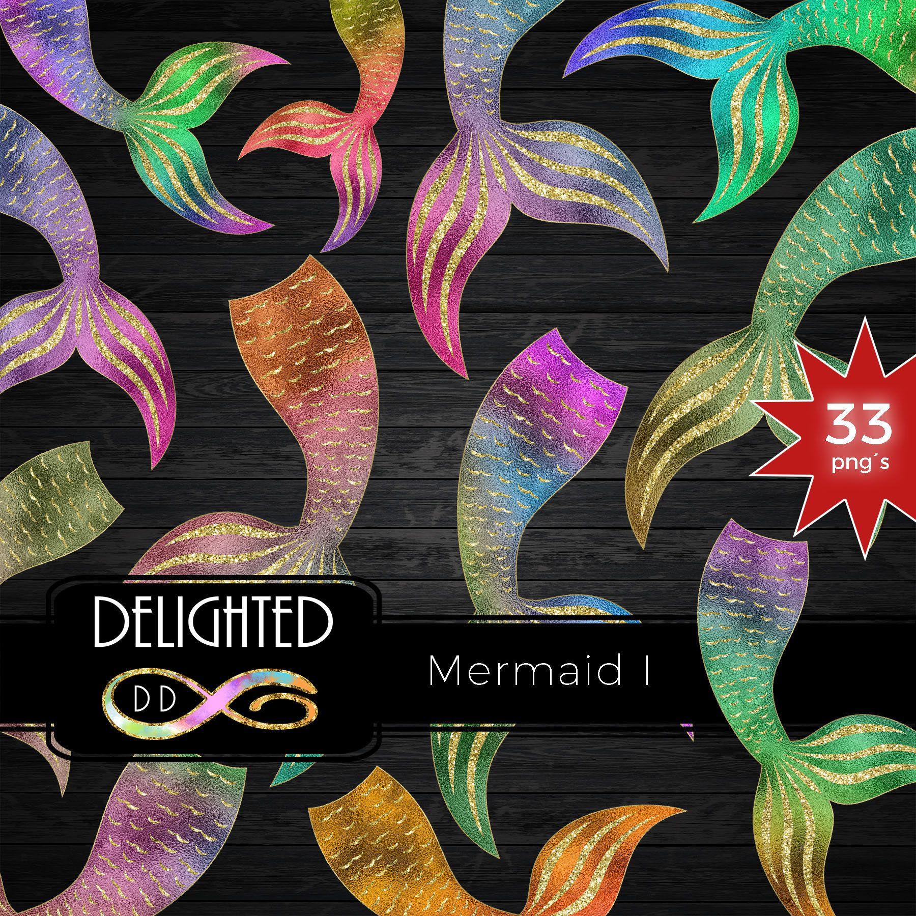 Mermaid Tail Clipart Gold Scales Glitter Clip Art Summer Sticker Sea Unicorn Foil Graphic Png Cute Rainbow Commercial Use Clip Art Summer Sticker Glitter Digital Paper