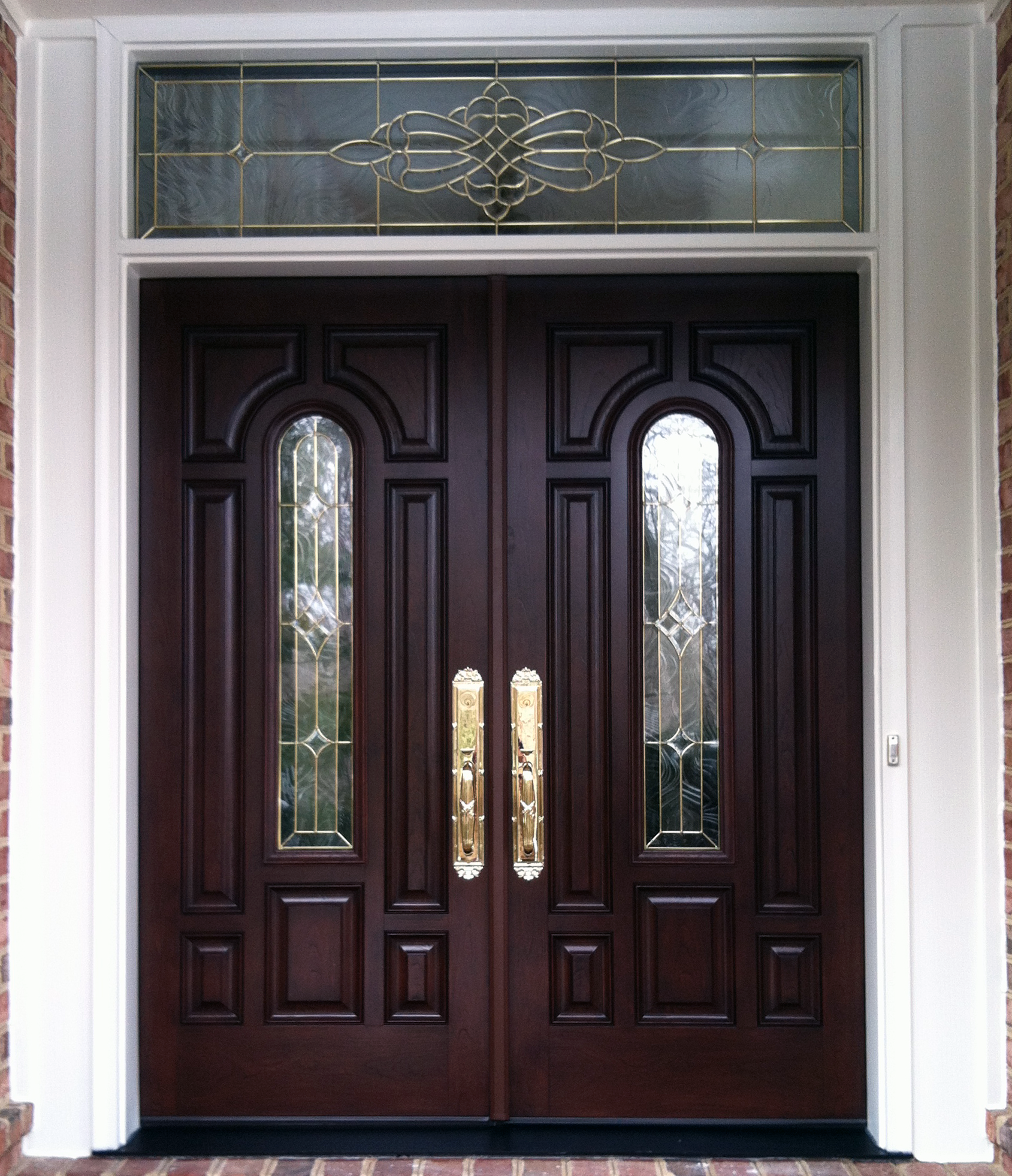 French wood front doors - Nova Exteriors Installed This Provia Signet French Entry Door System With St Jane Decor Glass Yesterday