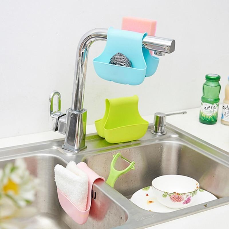 New Arrival Double Side Sink Sponge Holder Tableware Drying ...