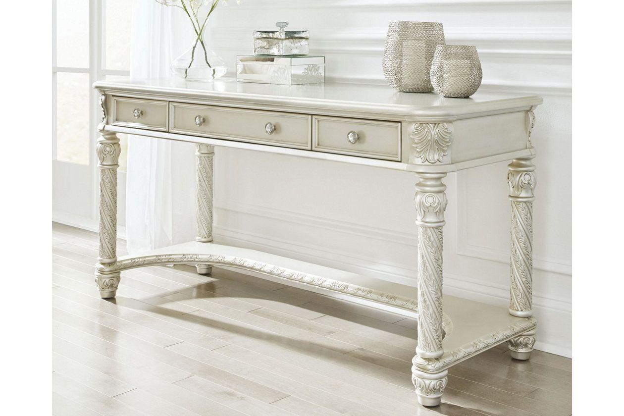 Cassimore Vanity Ashley Furniture HomeStore Silver