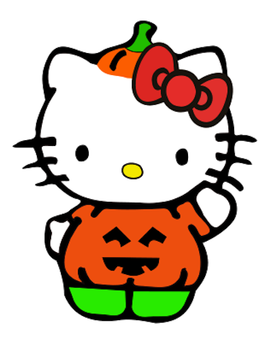 024bd6c9 Hello Kitty Pumpkin costume - would be cute to put on a shirt for Amber