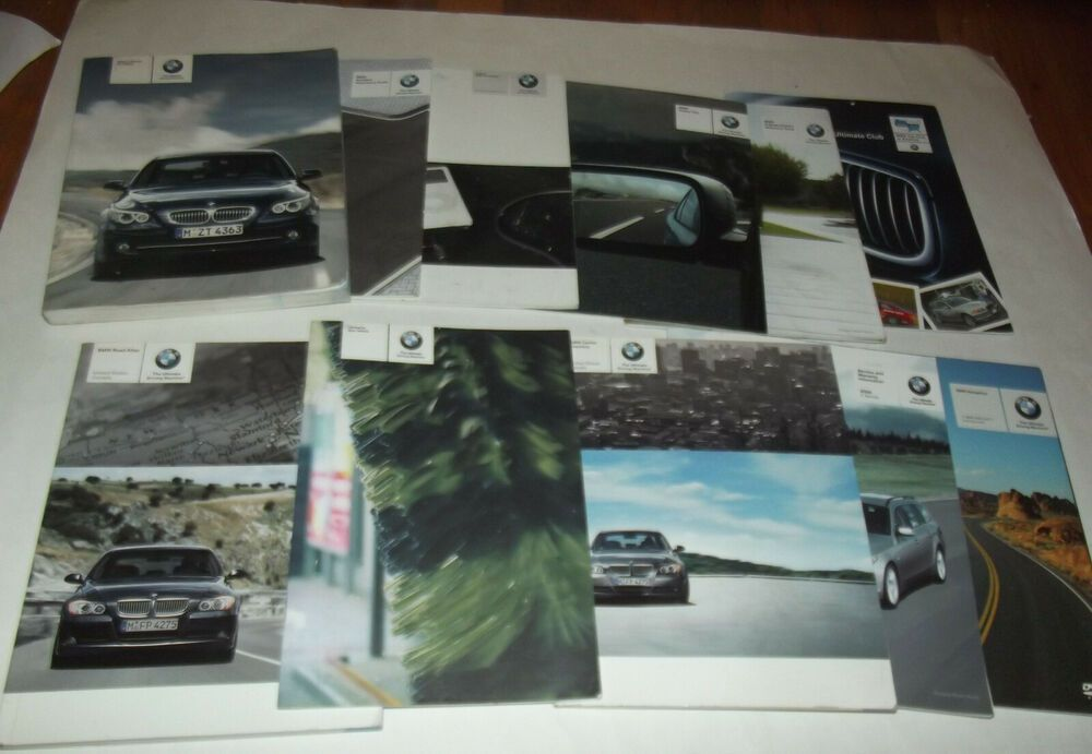 Advertisement Ebay 2008 Bmw Owners Manual 5 Series Booklet Set Incl Holder Includes All Pictured Legacy Gt Subaru Legacy Gt Owners Manuals