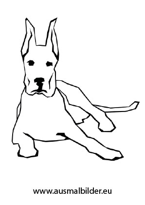 Ausmalbild Liegender Hund Zum Kostenlosen Ausdrucken Und Ausmalen Ausmalbilder Malvorlagen Hunde Ausmal Ausmalbilder Hunde Hunde Schlafende Welpen
