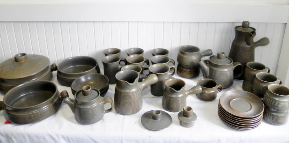 Vintage 37 Pieces of Denby Langley Sherwood Dinnerware Stoneware China England & Vintage 37 Pieces of Denby Langley Sherwood Dinnerware Stoneware ...