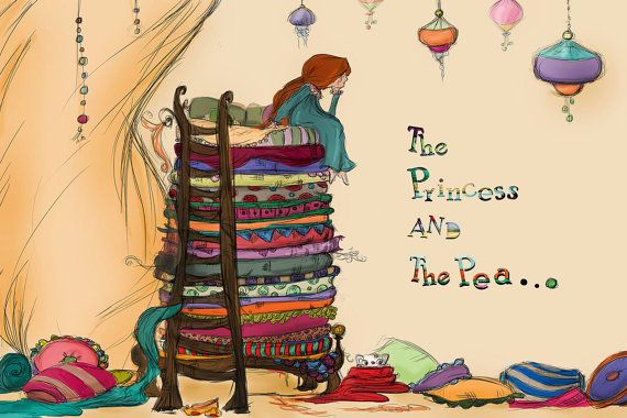 Princess and the pea fine print by TinyWhimsyThings on Etsy