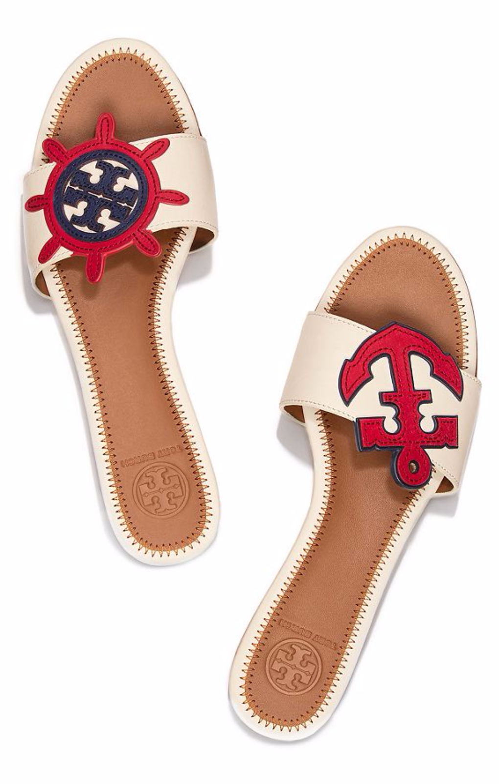 Visit Tory Burch to shop for Maritime Mismatched Slide and more Womens  Sandals. Find designer shoes, handbags, clothing & more of this season's  latest ...