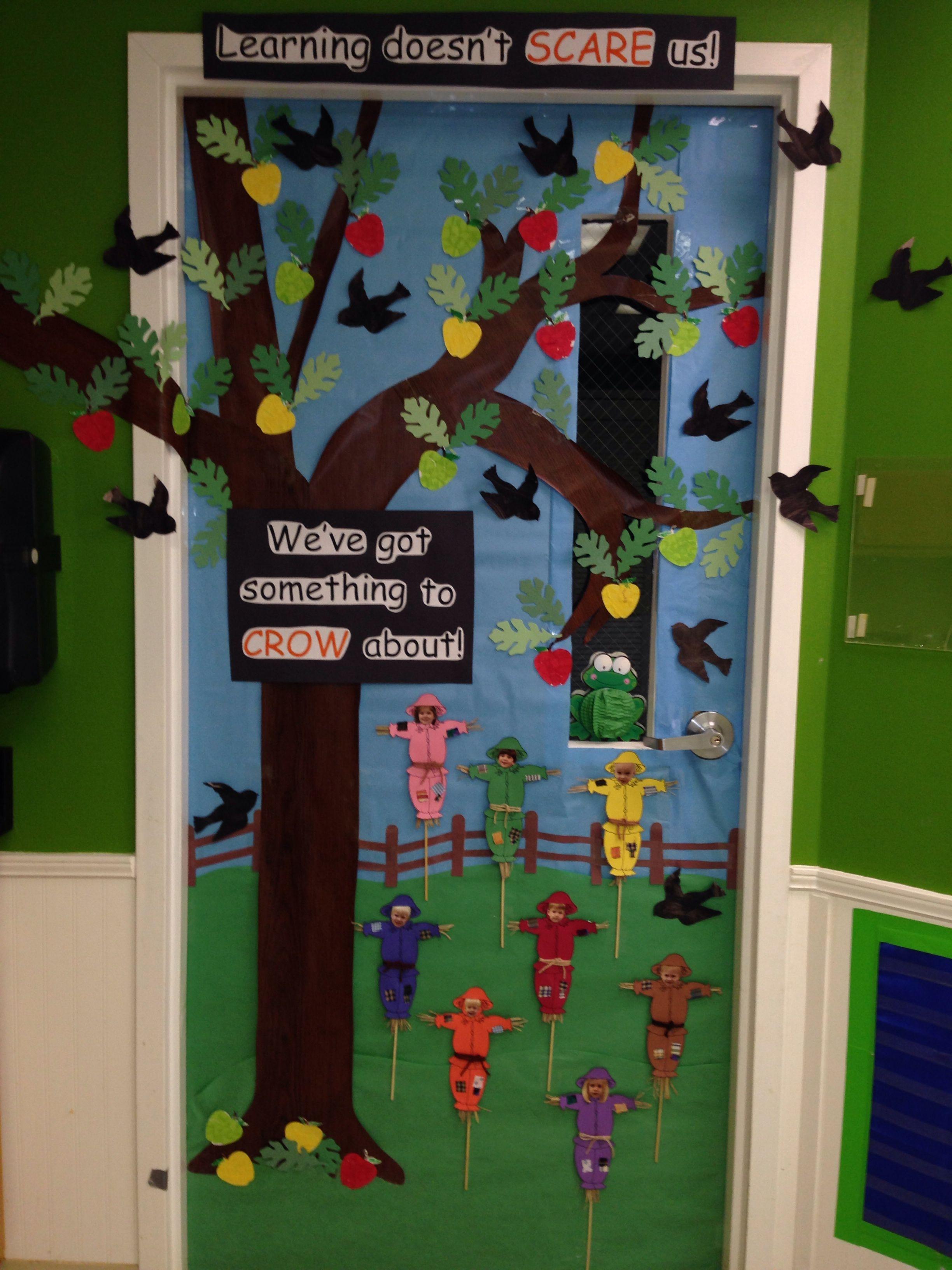 Scarecrow Door Display Class Ideas Bulletin Boards