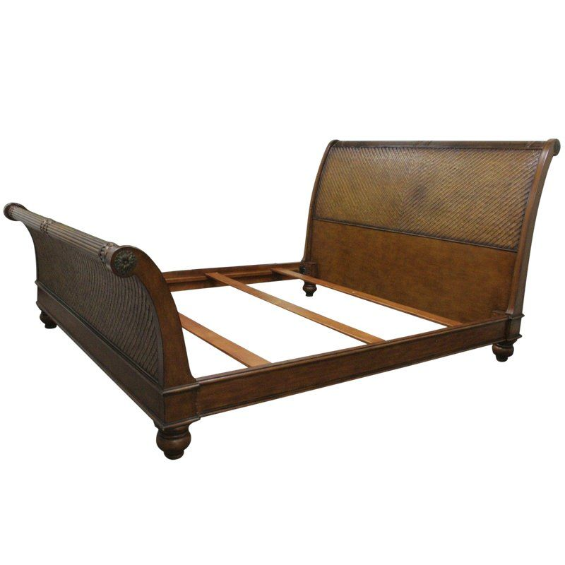Bassett Boho Wicker Chic Rattan King Size Sleigh Bed Frame