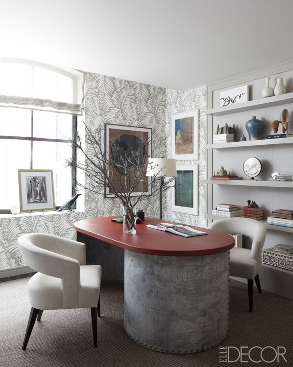 Hermes Wallpaper In A Home Office