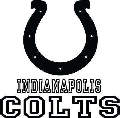 Indianapolis Colts Football Logo  Name Custom By VinylGrafix - Colts custom vinyl decals for car