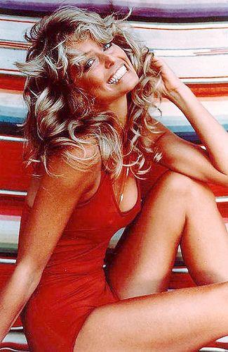 Farrah Fawcett Farrah Fawcett Cheryl Tiegs Red Swimsuit