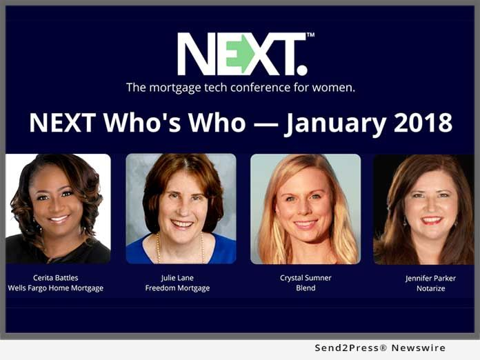 NEXT Mortgage Conference Announces 'NEXT Who's Who