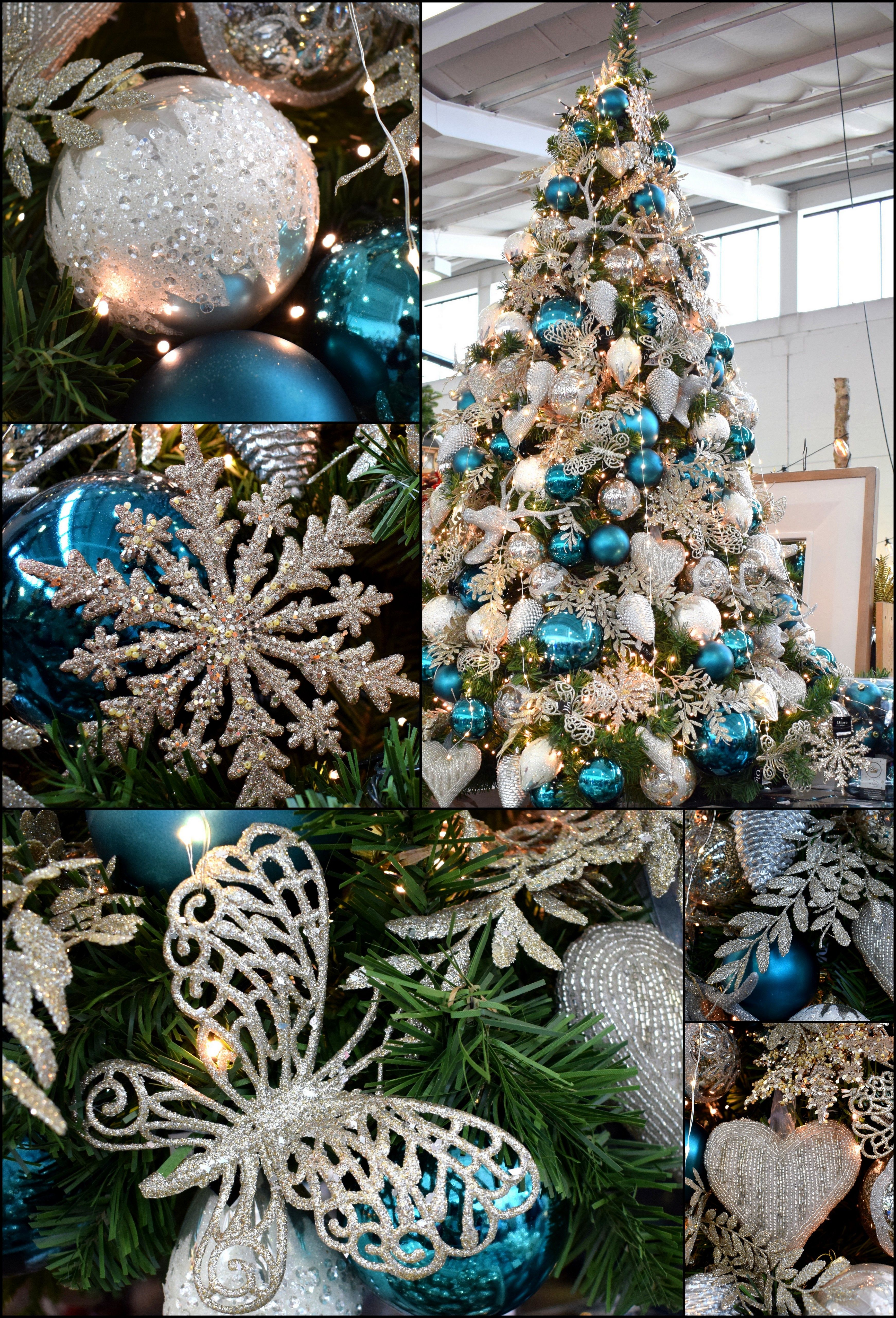 These Petrol Blue Baubles Look Fantastic When Used Alongside White And Silver Deco Cool Christmas Trees Christmas Tree Colour Scheme Christmas Tree Decorations