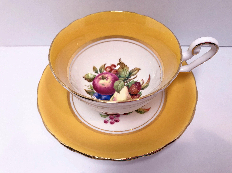Windsor Tea Cup and Saucer, Cornucopia Cups, Antique Tea Cups Vintage, Antique Teacups, Bone China Cups, Bridal Shower Gift, Tea Party #teacups
