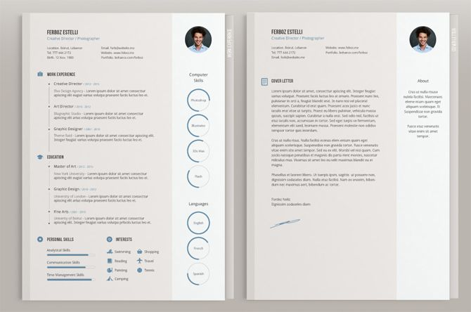 40 Best Free Resume Templates 2017 PSD, AI, DOC Free printable - cool resume templates free