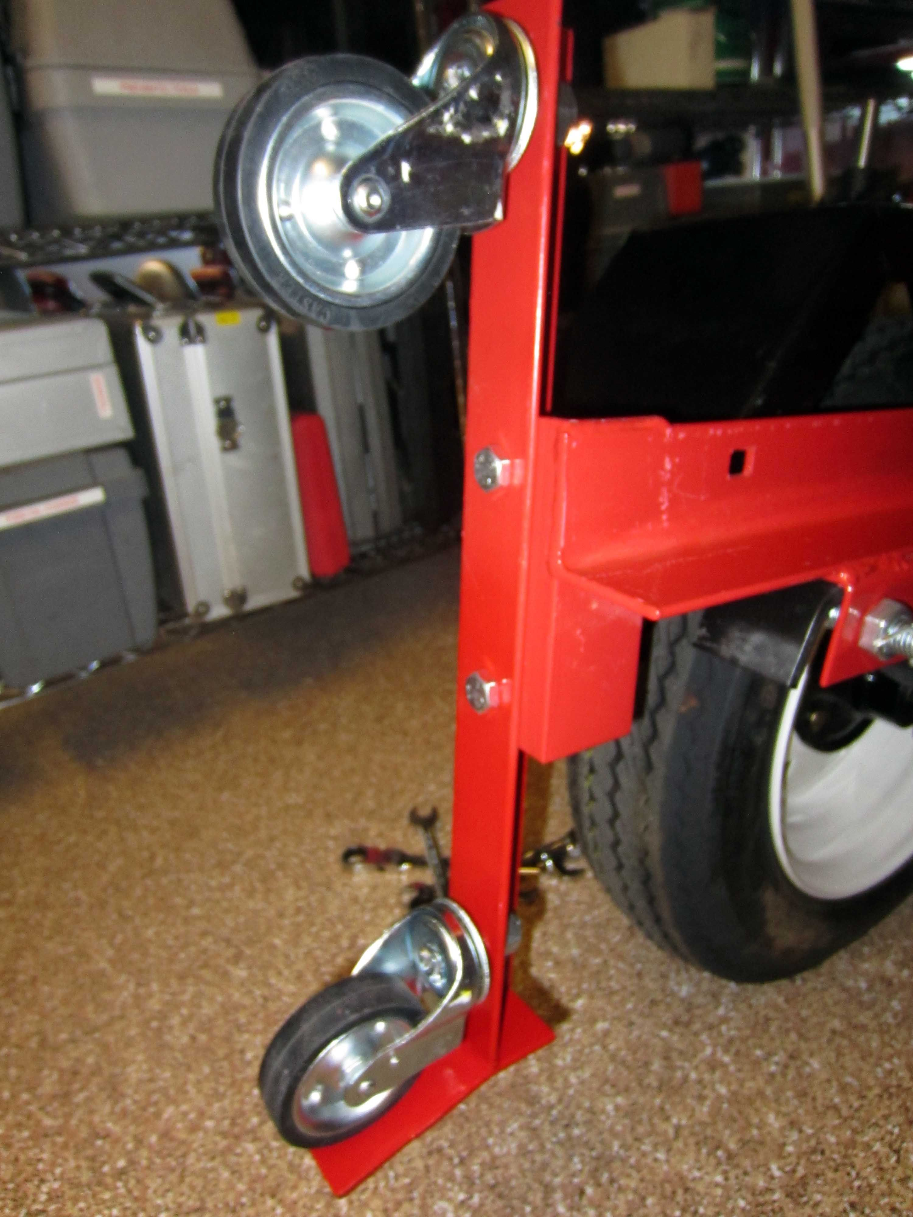 Harbor Freight 4 39 X 8 39 Folding Trailer Mods Finally Done The Garage Journal Boar Harbor Freight Folding Trailer Foldable Trailer Utility Trailer