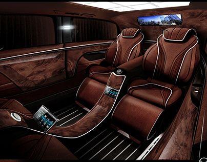 check out new work on my behance portfolio luxury mercedes vito interior. Black Bedroom Furniture Sets. Home Design Ideas