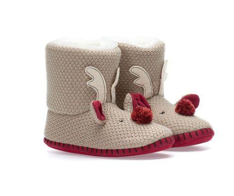 Reindeer slipper boots oysho kawaii christmas winter - Oysho deutschland ...