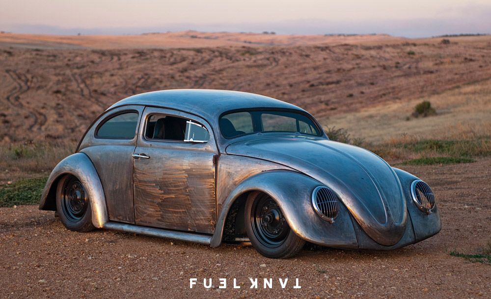 Extreme Dream Roof Chopped Bare Metal 1965 Volkswagen Beetle Fuel Tank