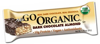 NuGO Organic Dark Chocolate Almond Protein Bar - All the flavor of chocolate covered almonds without the extra calories and fat! This low fat treat is coated in REAL Dark Chocolate! $22 for 1 box of 12 bars #organic #vegan #dairyfree #Kosher