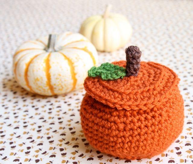 one sheepish girl: Crochet Pumpkin Treat Bowl Pattern | Mabon ...