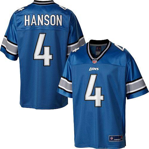 watch c85d5 97836 Men's Pro Line Detroit Lions Jason Hanson Team Color Jersey ...