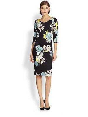 Erdem Floral-Print Jersey Dress