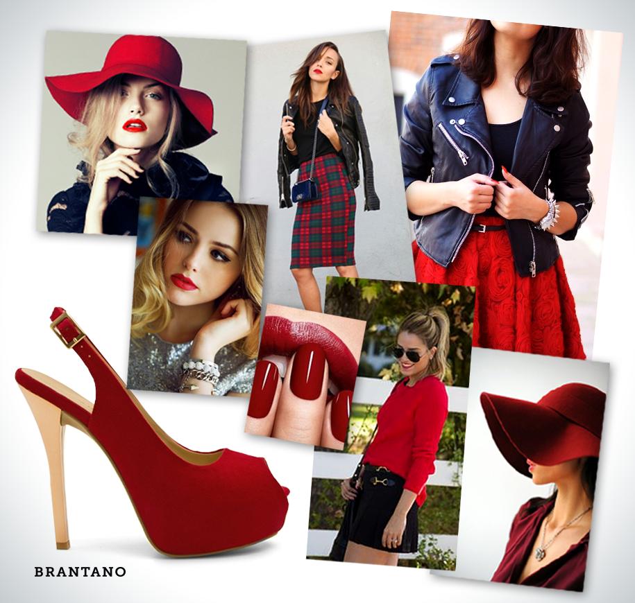 Sé la protagonista esta #temporada con el #rojo invernal y nuestros Peep Toe. #red #style #chic By Brantano Style