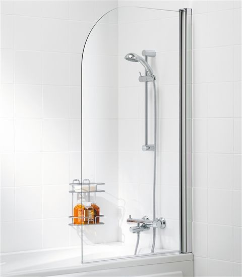 Single Panel Glass Bath Screen