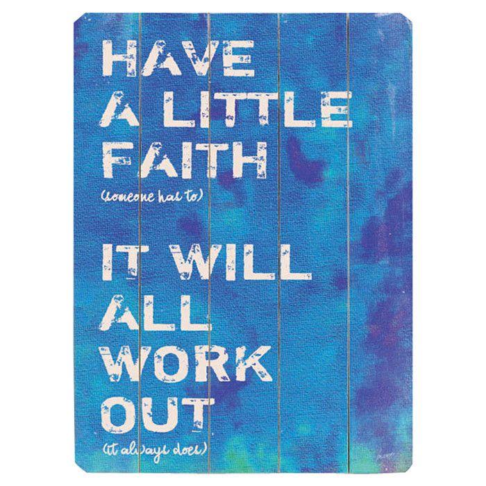 Have a Little Faith Wall Art