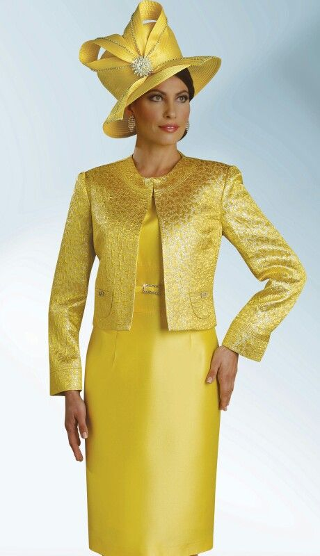 Shinny yellow 2pc Dress Suit | DESIGNER LEATHERETTE SUITS ...