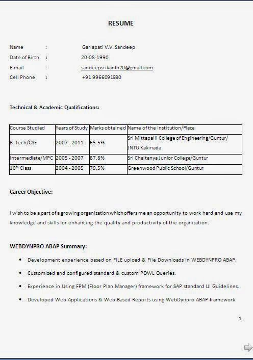 bajar curriculum vitae word Sample Template Example ofExcellent - resume name example