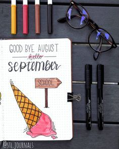 10 Bullet Journal September Cover Pages For Inspiration