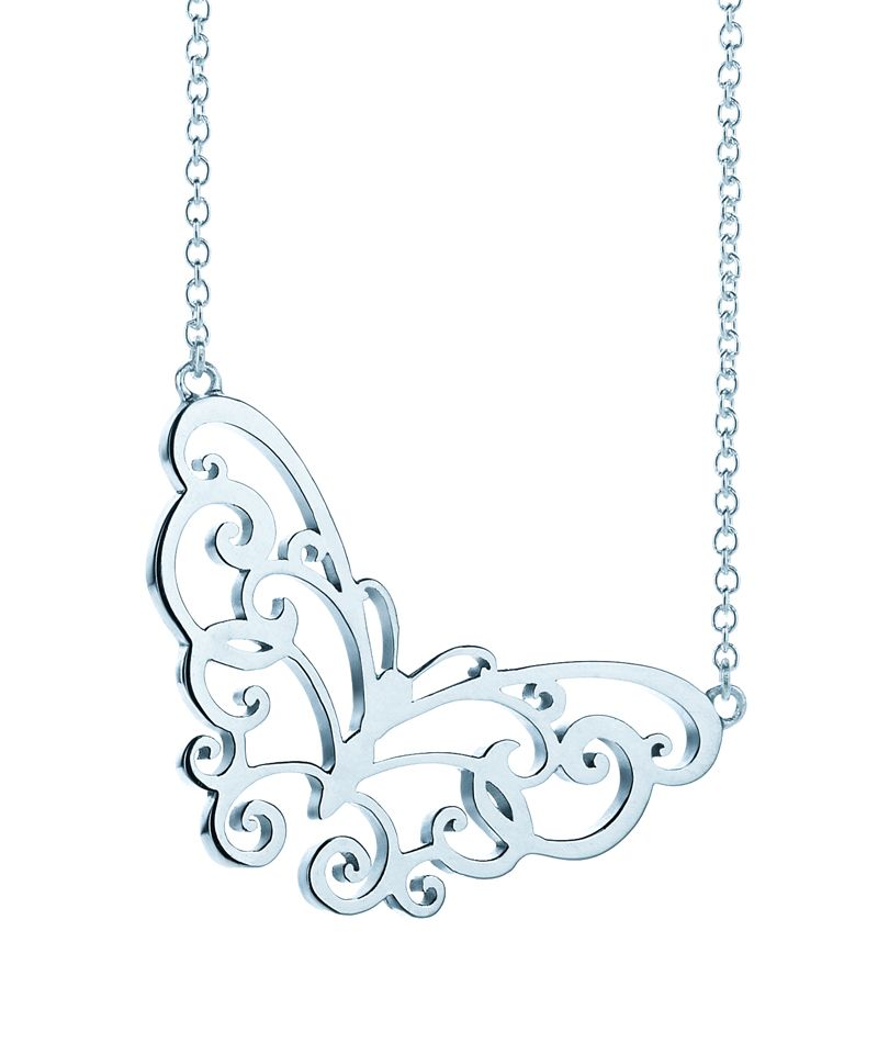 45499a7d9 A delicate detail inspired by nature. Tiffany Enchant® butterfly pendant in  sterling silver. Find this Pin and more ...