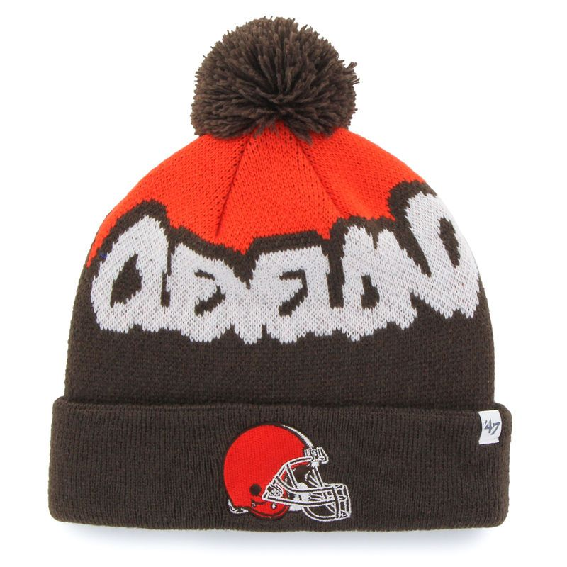 Cleveland Browns  47 Youth Underdog Cuffed Knit Hat - Brown ... 009a3c0ac