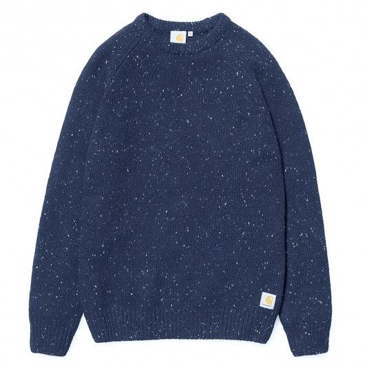 CARHARTT WIP Anglistic Sweater pull en laine jupiter heather