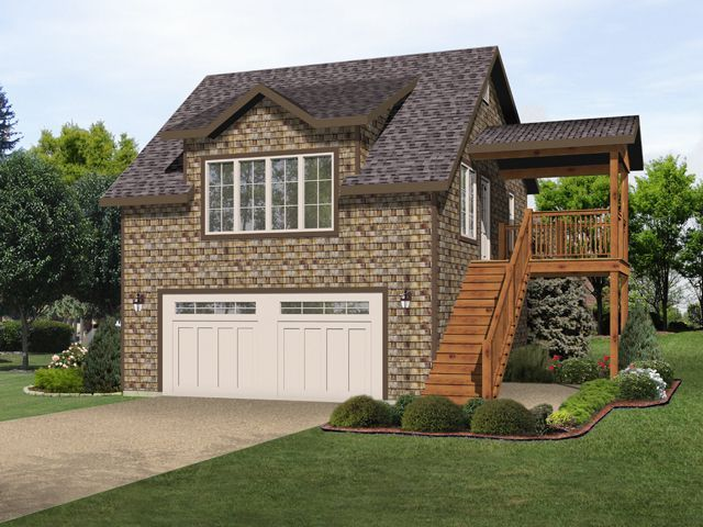 Unique two bedroom carriage house or garage apartment for Cool house plans garage