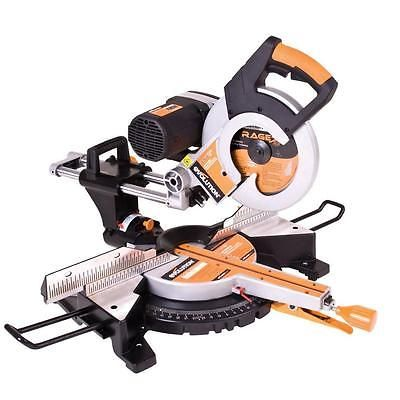 Laser Guide 10 In Compound Sliding Miter Saw Power Disc Chop Drop