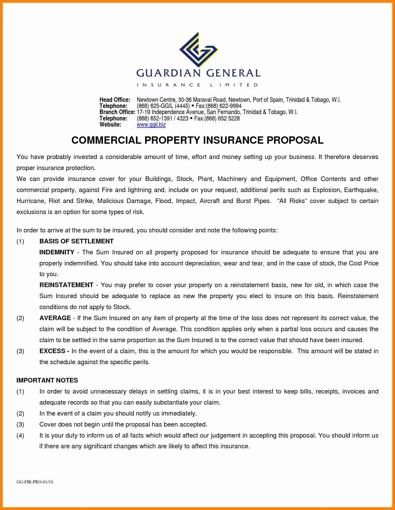 20 Commercial Insurance Proposal Template In 2020 Commercial