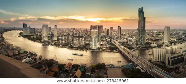 Landscape River Bangkok City Panorama Stock Photo Edit Now 273415961