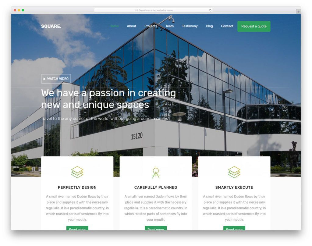 Square Free Template 56 Best Free Architecture Html