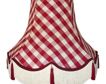 Red Gingham Lamp Shade: red gingham buffet lamp shade - Google Search,Lighting